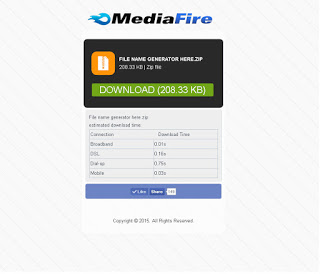 Mediafire Mobile Responsive Template Landing Page